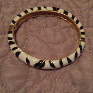 EUC Kenneth Jay Lane Zebra Bracelet Bangle